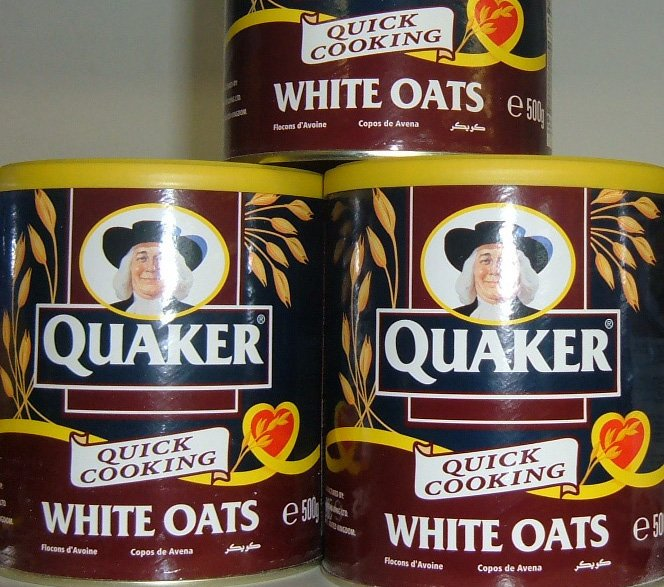 Quaker quick cook white oats 500g tin