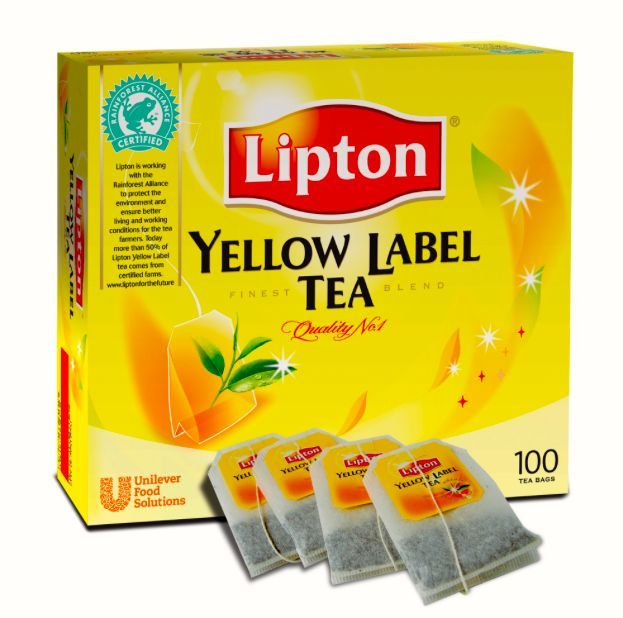 Te koop LIPTON Yellow Label Tea 100 bags / box, 2 g / m