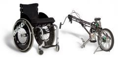 BerkelBike Classic invalide rollstoel met fiets en