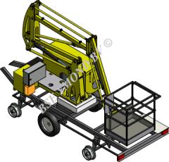 Railweg-aanhangwagenhoogwerker (LIGHT uitvoering)