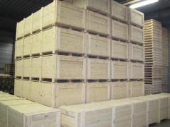 Wooden packaging, wooden packaging for export, Solid Wooden crates. Van Leyen Packaging Boxes factory