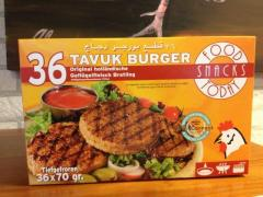 Frozen Halal Chicken Burgers