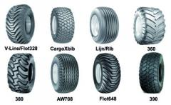 Tires for agricultural machinery and equipment