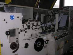 Flat papieren zak maken machine met 4 kleuren in-line pers / 2e hands
