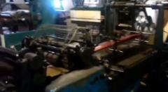 Flat papieren zak maken machine met Window film & 4 kleuren in-line pers / 2e hands