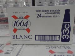 KRONENBOURG 1664 BLANC / FRENCH BLUE BOTTLES 33CL / 25CL