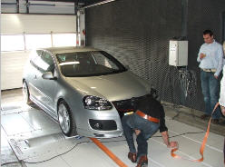 Bestelling ROLLING ROAD TESTING OF COMPLETE CAR